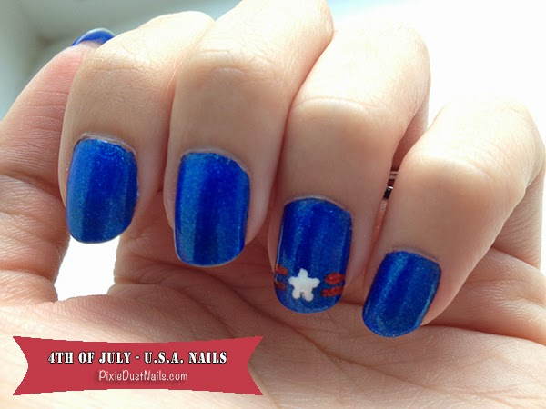 Pixie Dust Nails- 4th of July USA Nails