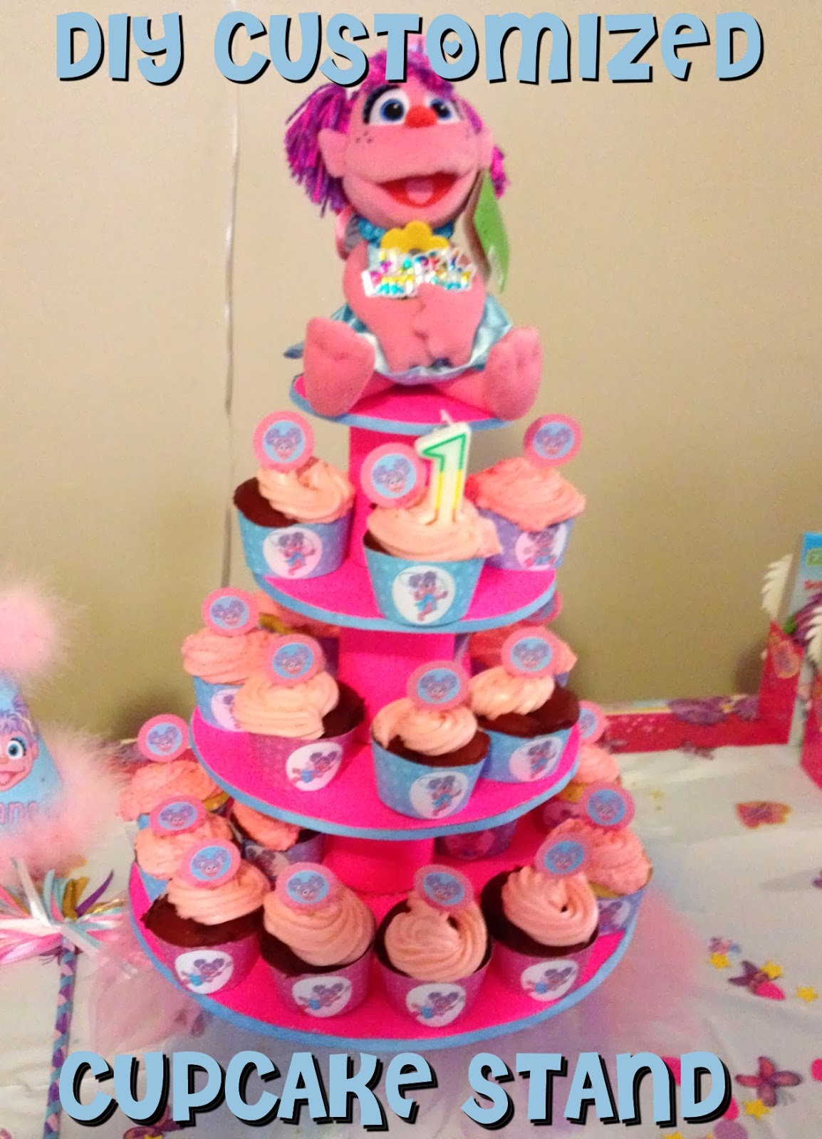 Diy Abby Cadabby Birthday Party Customized Cupcake Stand Tutorial