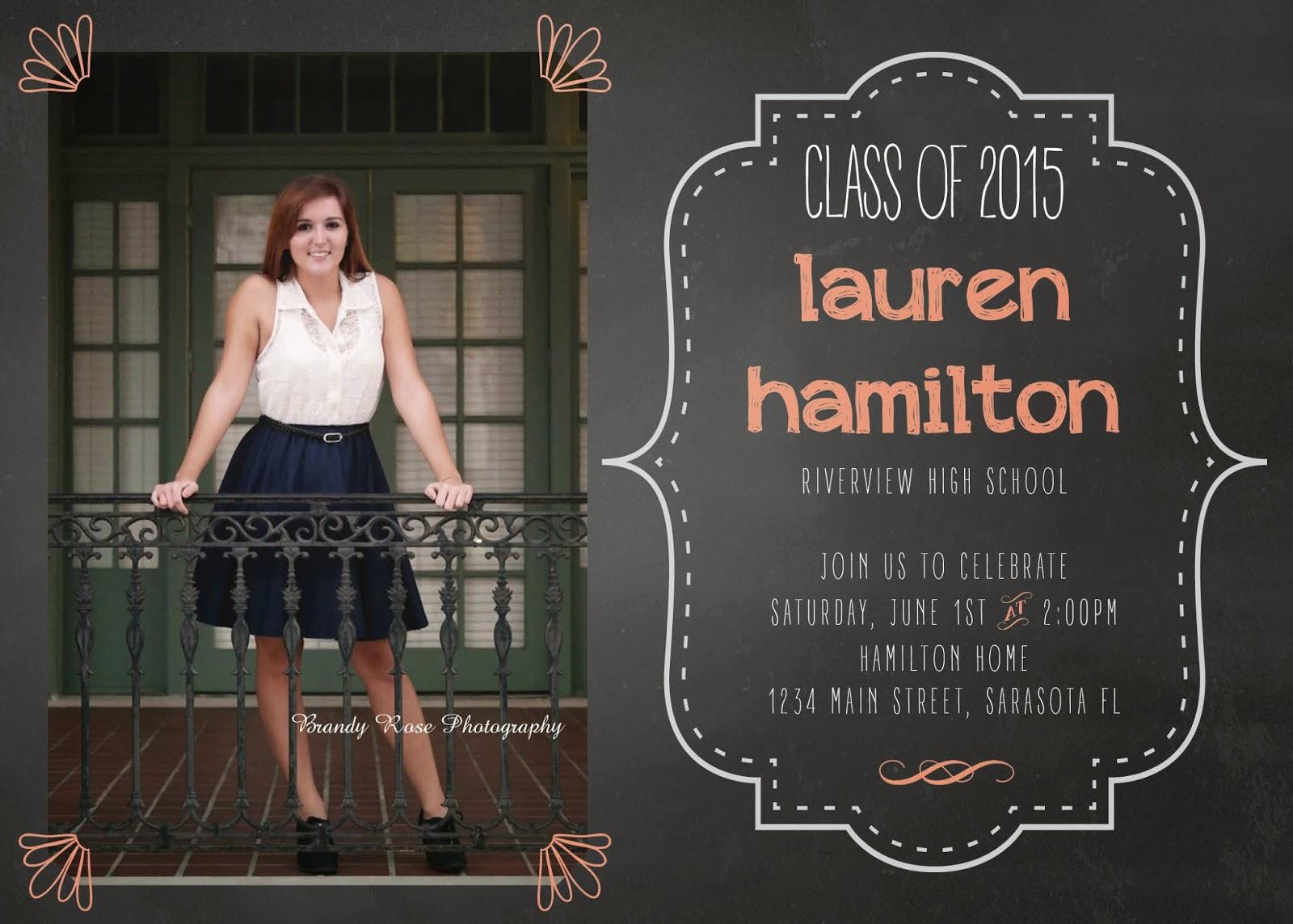 Chalkboard 2015 Graduation Announcement