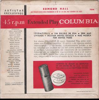 Edmond Hall - EP (1957) Back