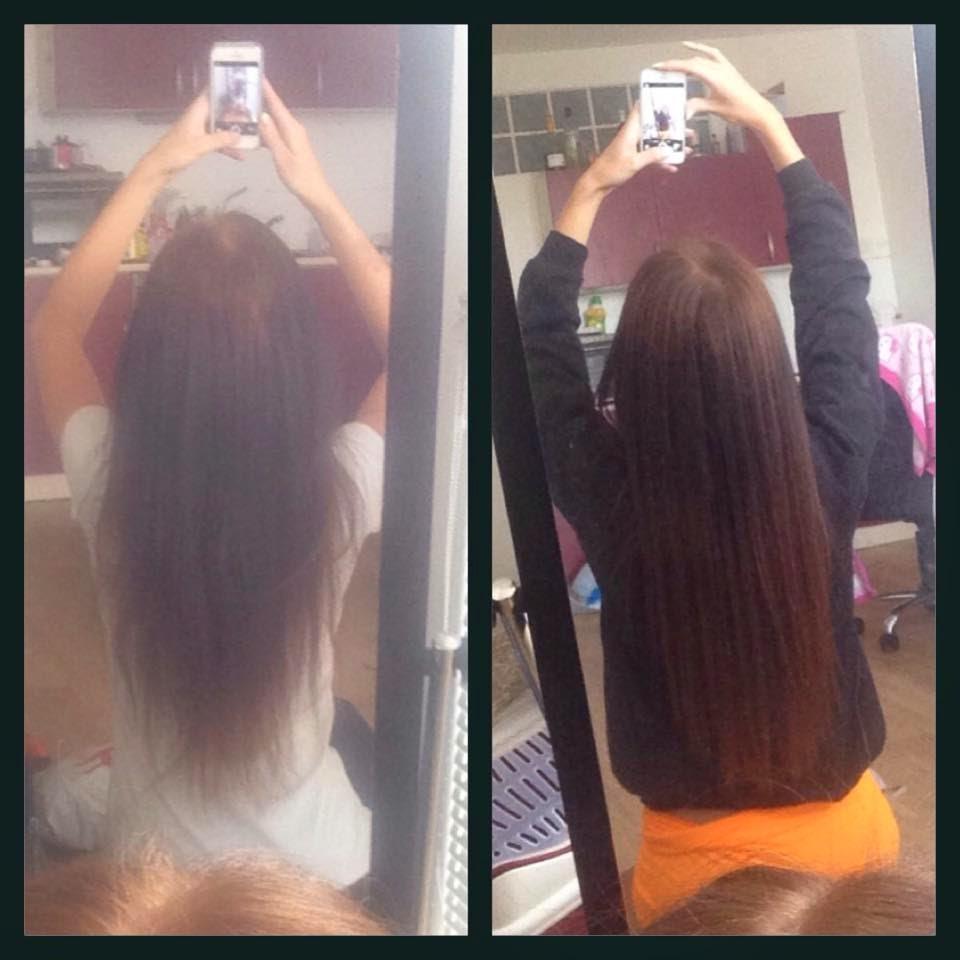 zažehlování keratinu do vlasů