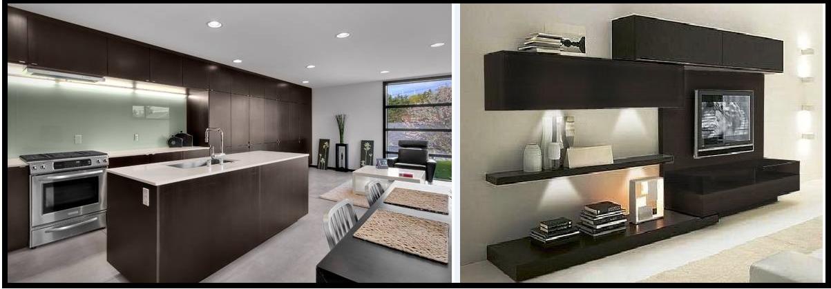 Creaciones y disenos coa for Cocinas empotradas modernas para espacios pequenos