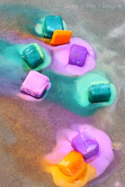 Beat the heat with erupting ice chalk