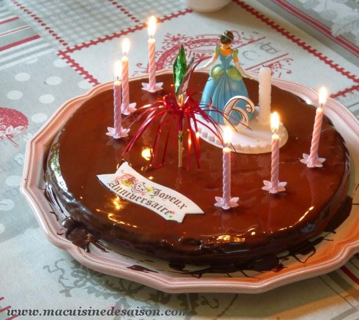 Le fondant au chocolat pour fêter les 6 ans de Rose
