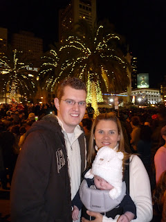Tree lighting in Union Square