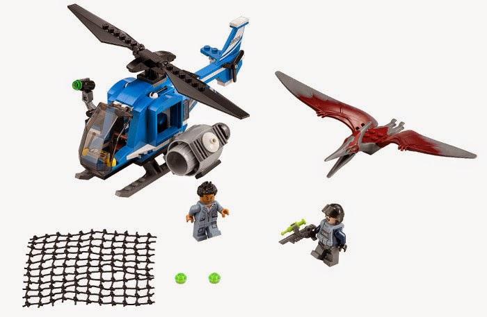 JUGUETES - LEGO Jurassic World  75915 Captura del Pteranodon  Producto Oficial Película 2015 | Piezas: 174 | Edad: 6-12 años