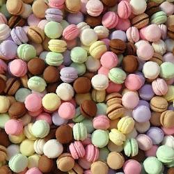 Miniature pastel macarons
