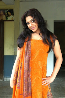 Tamil Actress Sandhya in Orange Churidar Stills