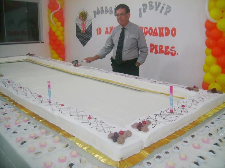 10 anos IPB Vicente Pires - bolo de 10 metros feito pela sócia da SAF Oneida Matos