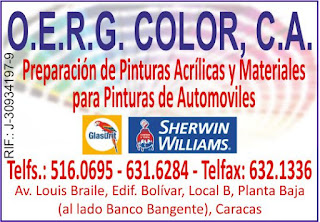 O.E.R.G. COLOR, C.A. en Paginas Amarillas tu guia Comercial