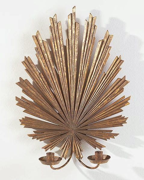 sunburst sconce, gold sconce