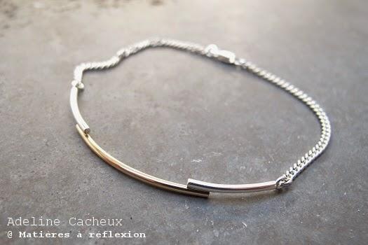 Bracelet Adeline Cacheux argent et or jaune