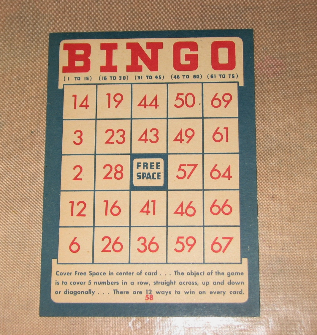 So i like to use vintage bingo cards for these plaque bases