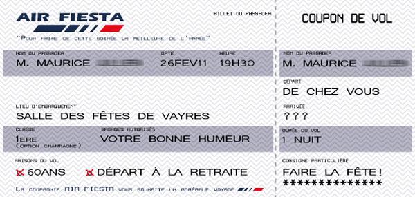 """Préférence Carte d'invitation """"Embarquement"""" ~ Bocaline FU61"""
