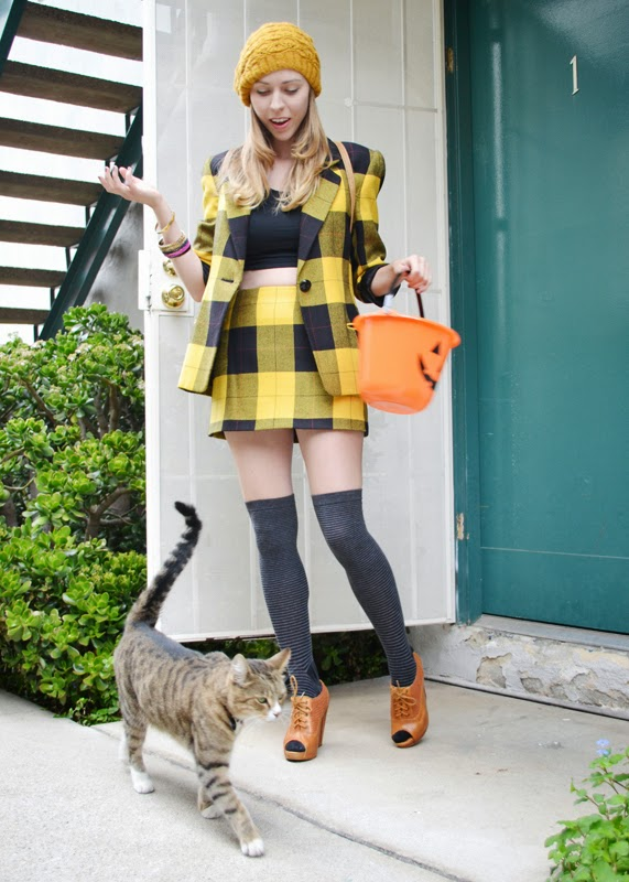 Cher Horowitz, Plaid, Costume, 90s, Cluless, Cat intruder