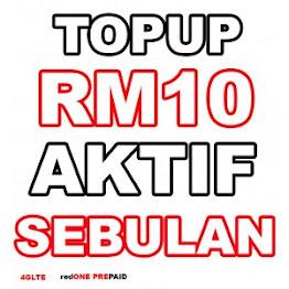 Topup RM10 sah 30 hari