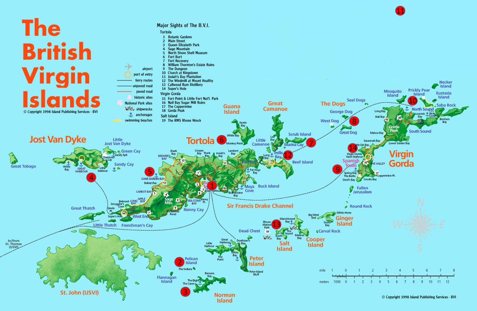 not pictured on this map is the island of anegada which is north of virgin gorda