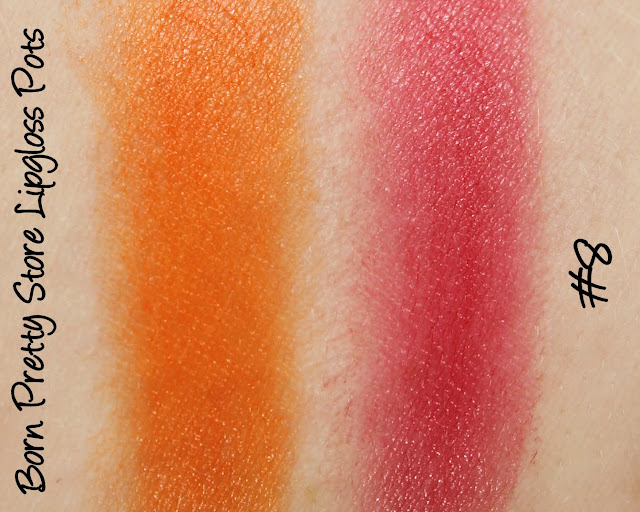 Born Pretty Store Lipgloss/Lipstick Pots - Shade #8 Swatches & Review