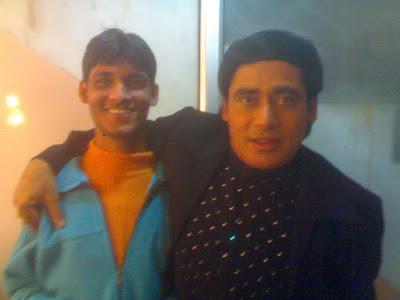 Anshu Dikshant with Bhojpuri Singer Sunil Chhaila Bihari