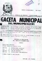 ORDENANZA DE ZONIFICACION DEL MUNICIPIO SUCRE EDO. MIRANDA