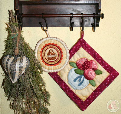 agarraderas bordadas a mano decoración cocina