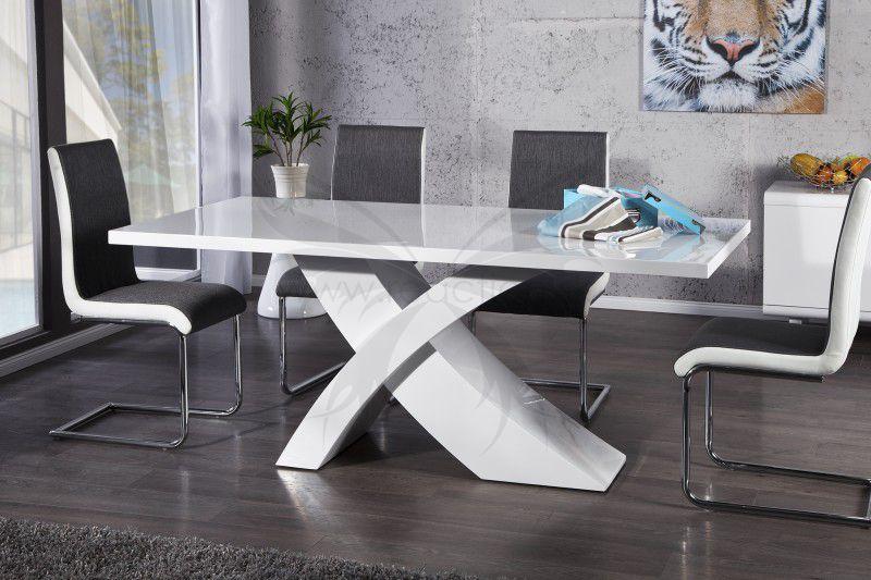 luxusny nabytok, moderne jedalenske stoly v bielej farbe, stu00f4l do ...