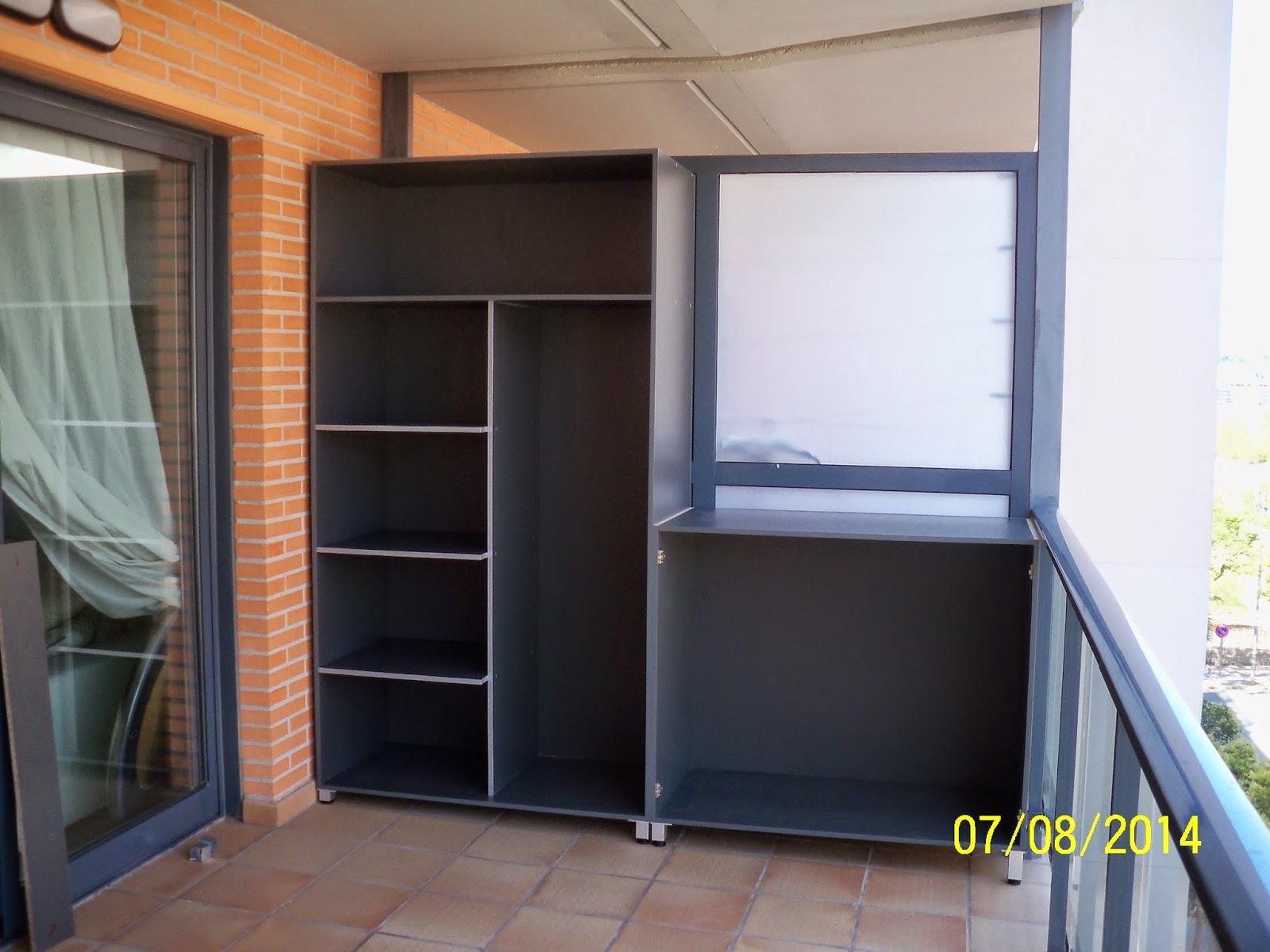 Pepe granell armario modular terraza ebanister a 2014 for Precio armario aluminio terraza