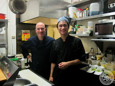 image of Execute Chef Ken Larsen (left) & Sous Chef Matt Roth from Table Verte, French vegetarian restaurant in NYC, New York