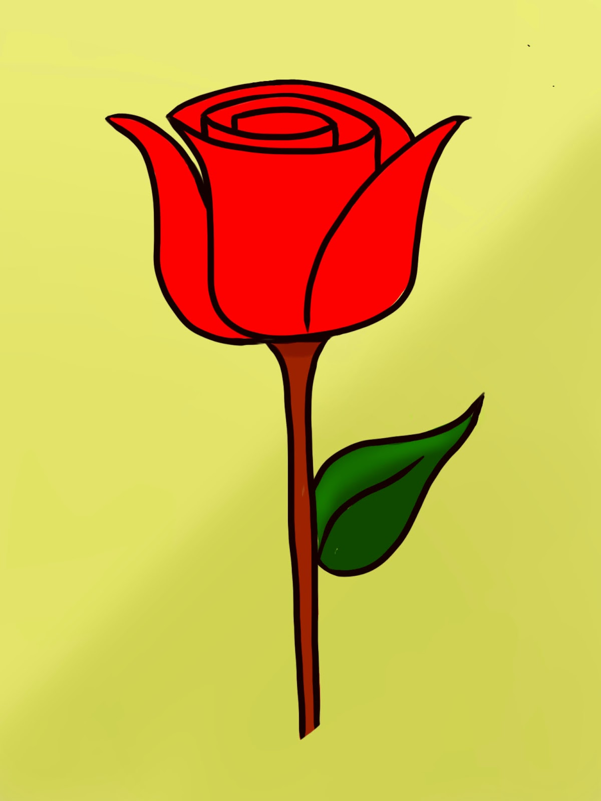 how to draw a simple rose video