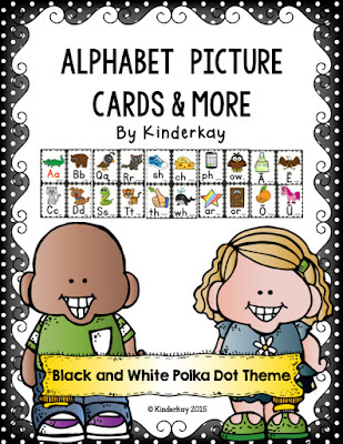 https://www.teacherspayteachers.com/Product/Alphabet-Picture-Cards-and-More-Black-and-White-Polka-Dotted-THEME-2010270