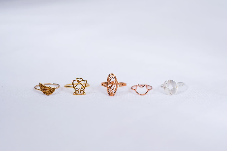 minimalistyczne pierścionki kolekcja