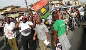 MASSOB members protesting
