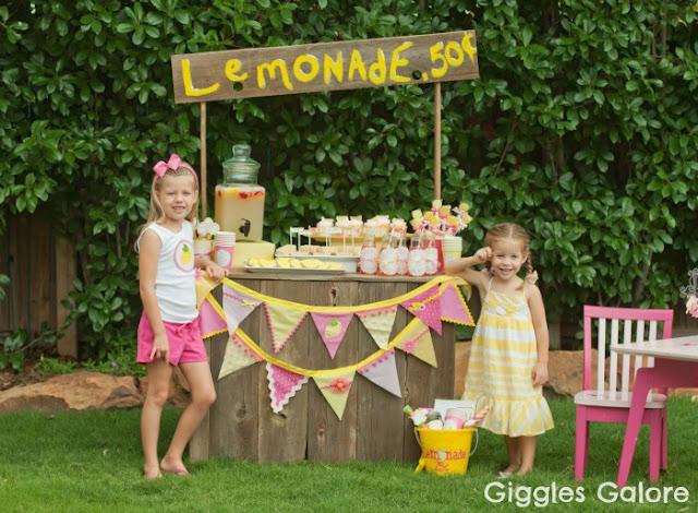 Fiesta de la limonada para niños