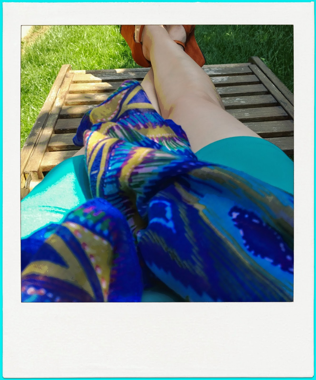 Funky Jungle lounging, legs and shoes