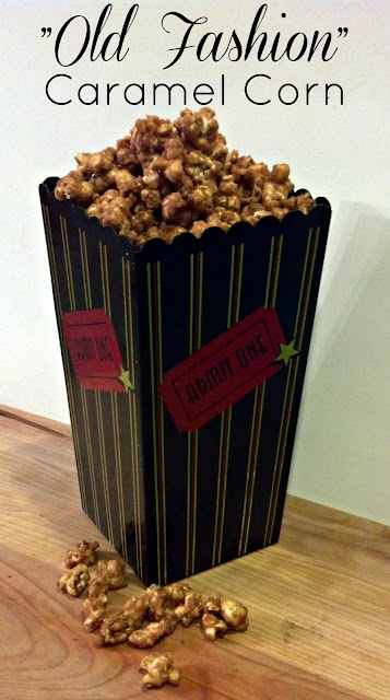 Old Fashion Caramel Corn--super easy! Just like grandma used to make