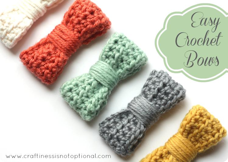 Crochet For Beginner Tutorial : Easy crochet bow tutorial/pattern