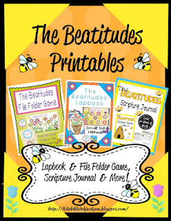 The Beatitudes Printables (www.biblefunforkids.com)