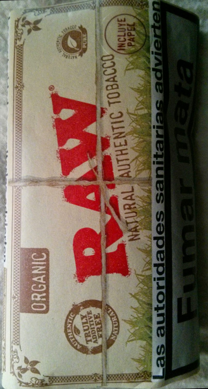 tabaco natural sin aditivos Raw Organic