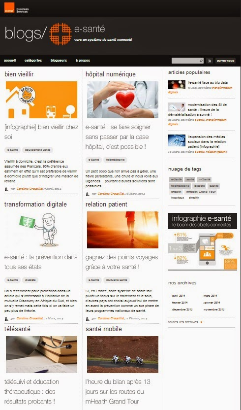 blog e-santé orange healthcare
