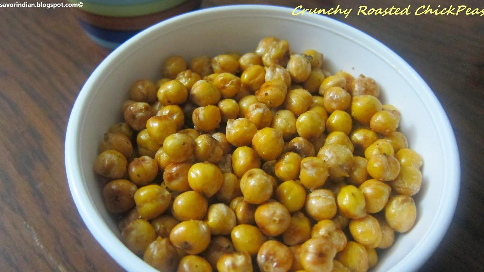 Crunchy Chickpeas/Crispy Roasted ChickPeas