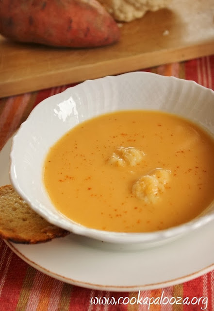 Cauliflower and Sweet Potato Bisque