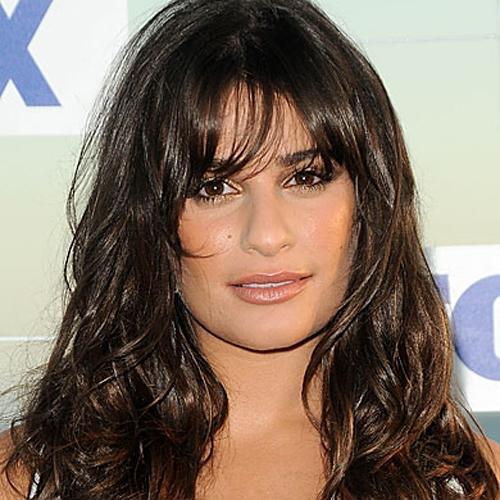 Lea Michele fringe hairstyle - Mussed Up
