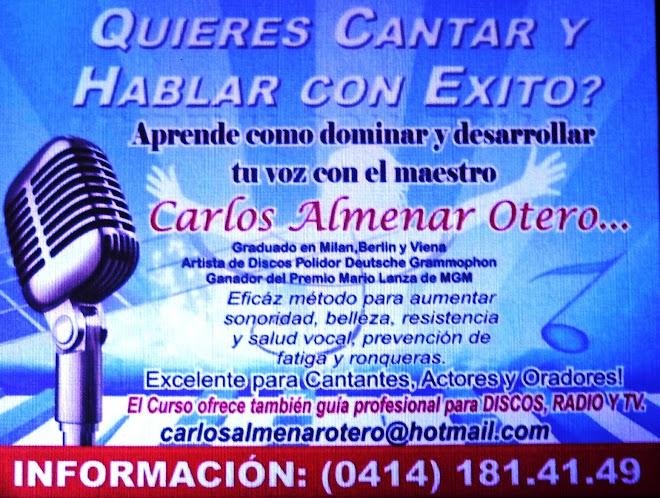 INFORMACION ESPECIAL PARA CANTANTES Y ANIMADORES