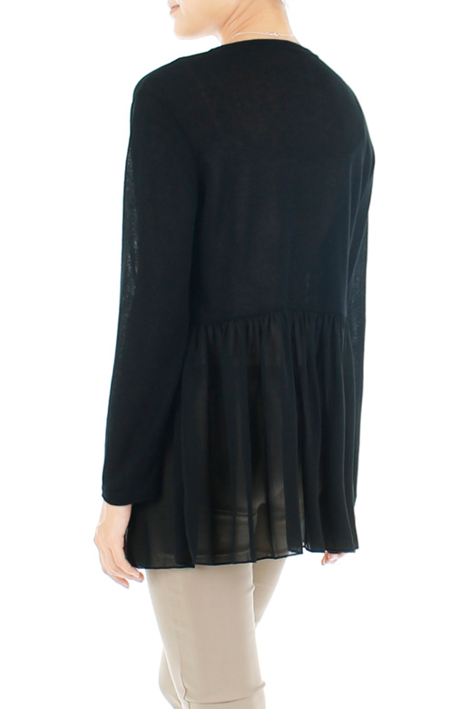 Chiffon Dreams Fine Knit Cardi – Classic Black