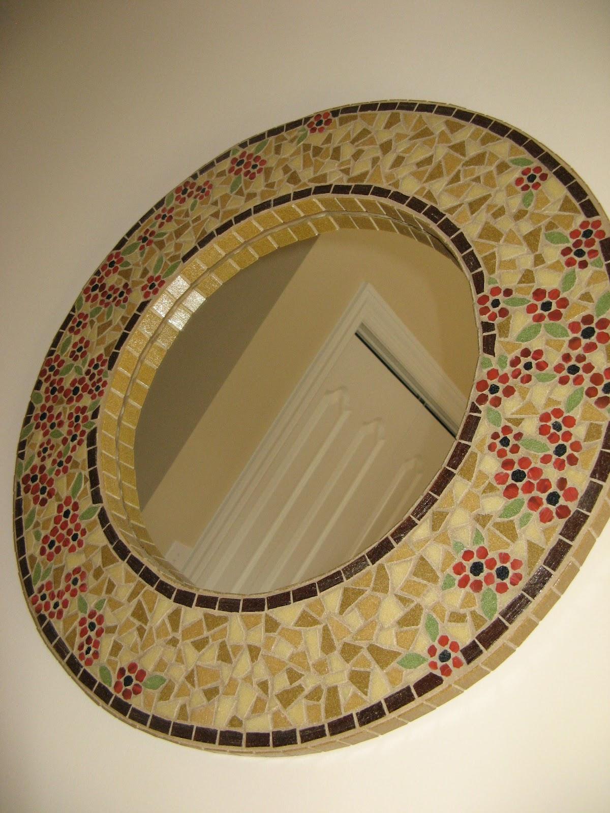 Susan snyder mosaic mirror for Mosaic mirror