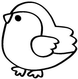 COLOREA TUS DIBUJOS: Pollito para colorear
