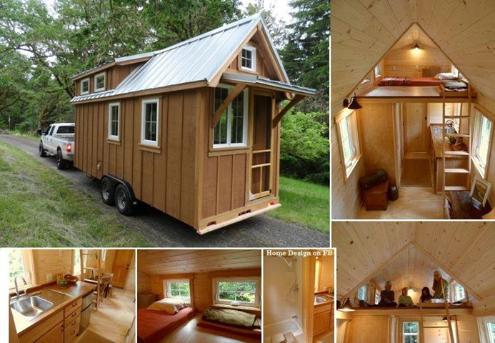 Artistic land tiny house on wheels for Small house design on wheels