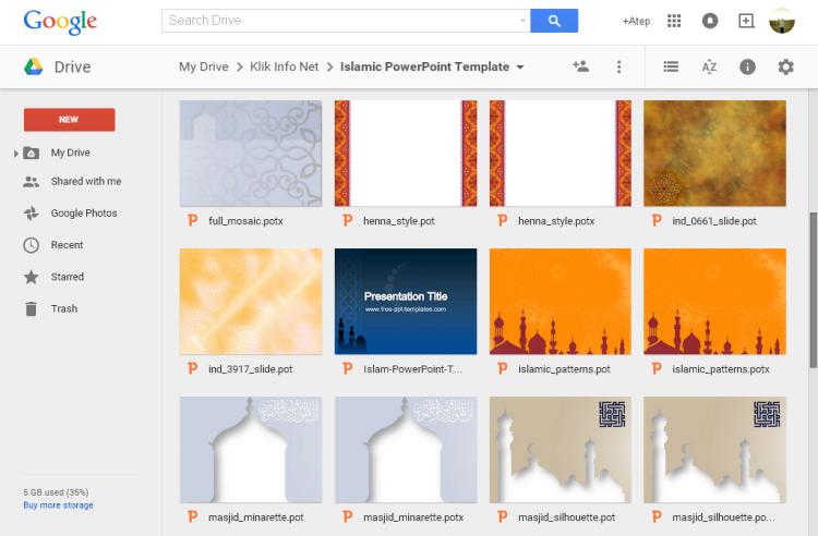 Template PowerPoint Bertema Islami untuk Presentasi Pendidikan Agama Islam