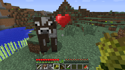 minecraft cow taming