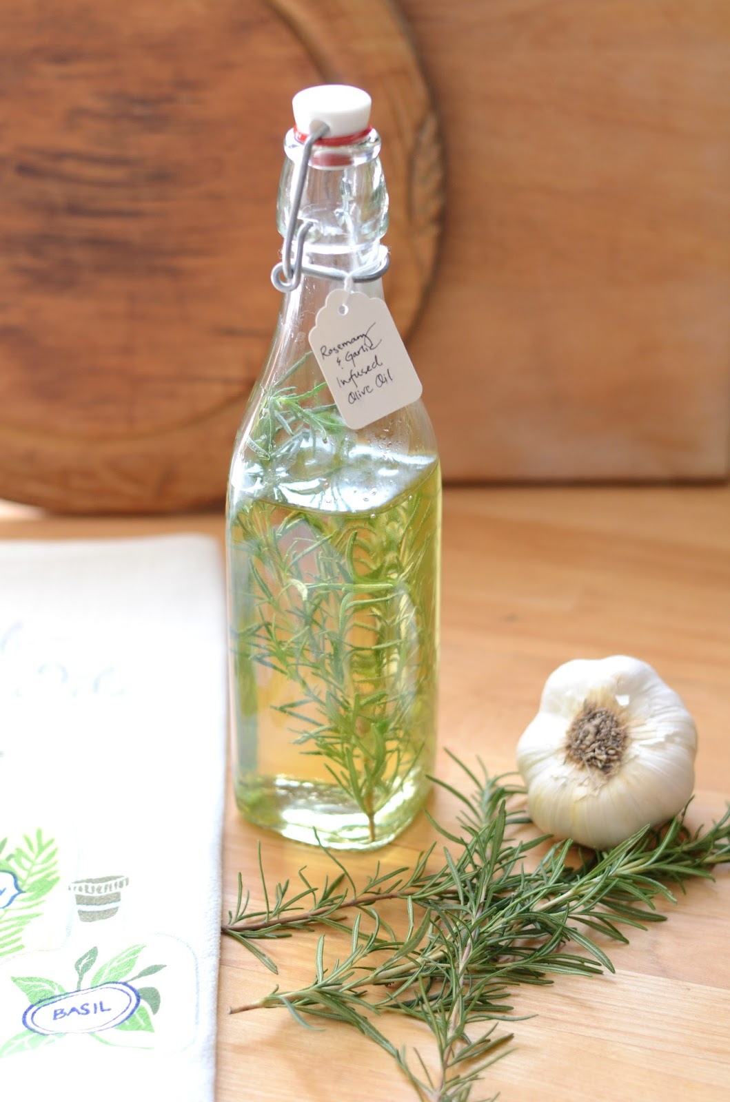 IRON & TWINE: Rosemary & Garlic Infused Olive Oil